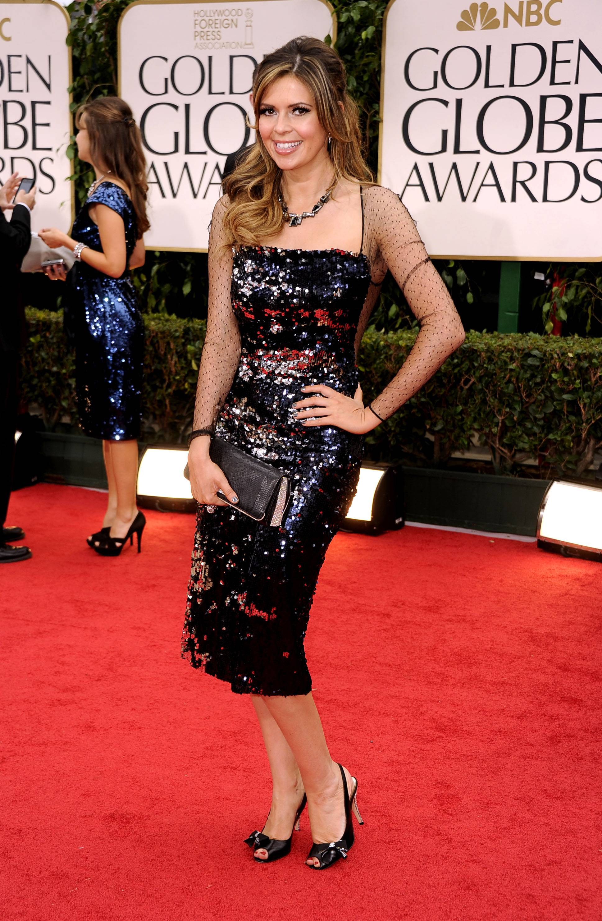 Carly Steel arrives at the 69th annual Golden Globe Awards in  > Douglas Hannant, Aruna Seth and Alberto Parada