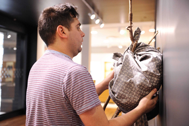 Hernan Bas fashions a Louis Vuitton Bindle