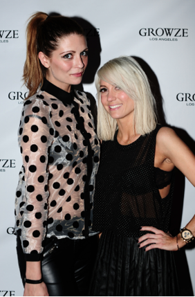 Hosts Mischa Barton and Taylor Jacobson