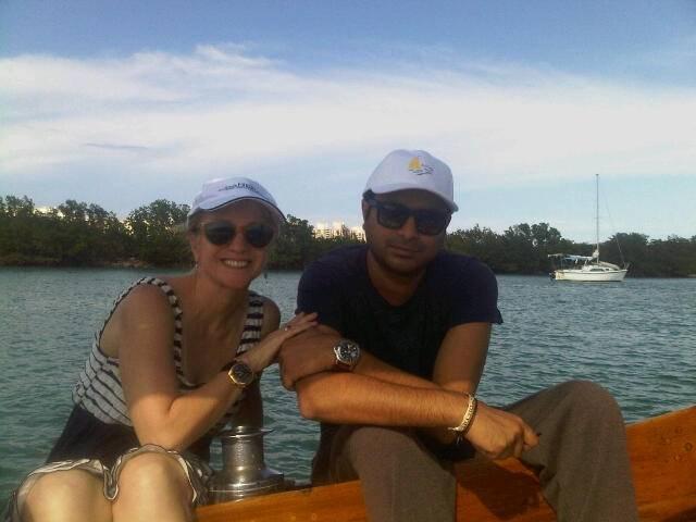 Kamal and me wearing Panerais