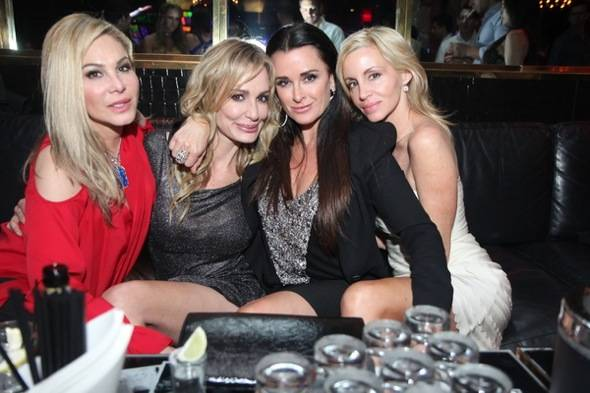 L to R - Adrienne Maloof, Taylor Armstrong, Kyle Richards and Camille Grammer