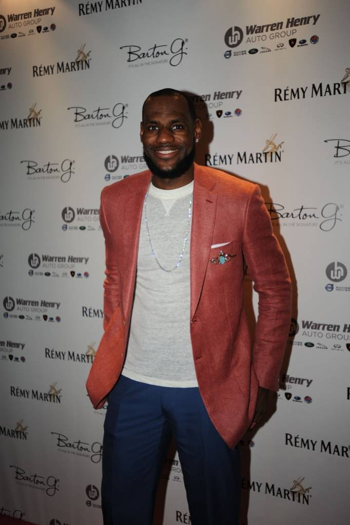 LeBron James attends Remy Martin's 28th Birthday Celebration for Chris Bosh