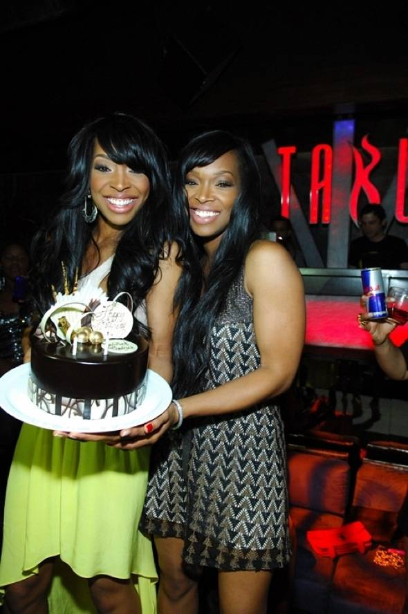 Malika and Khadijah Birthday Cake - Tabú Ultra Lounge - Saturday, March 24