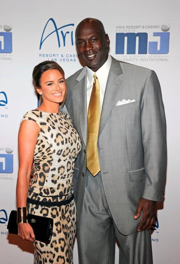 Michael Jordan and fiancee Yvette Prieto on carpet at MJCI Celebration, Las Vegas, 3.30.12