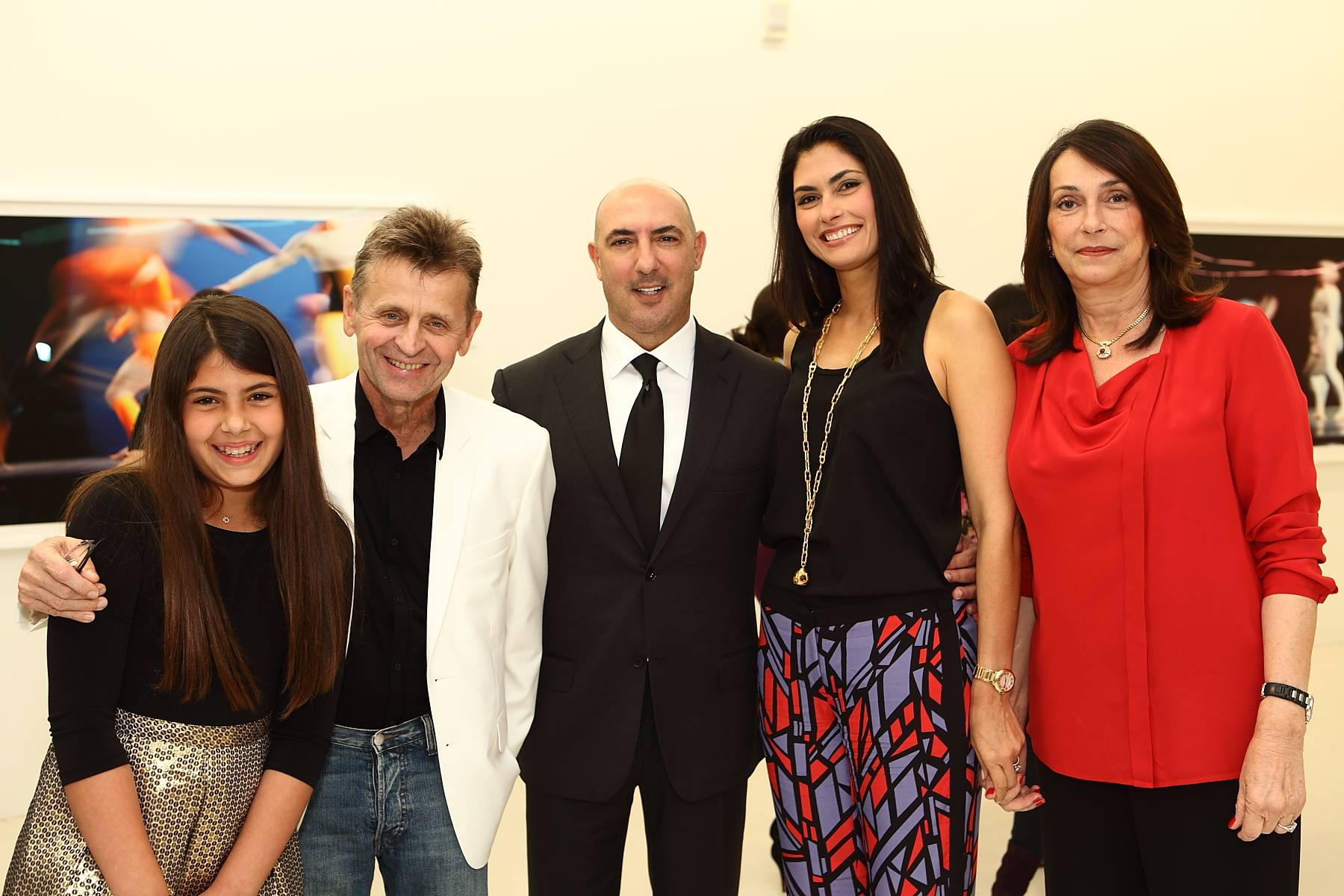 Mills Nader, Mikhail Baryshnikov, Gary Nader, Jennifer Nader, Dora Infante