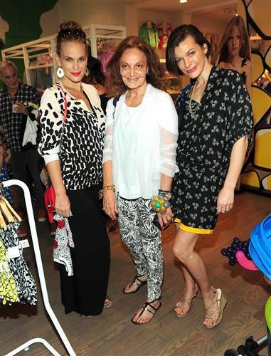 Molly Sims, Diane Von Furstenberg, Milla Jovovich,