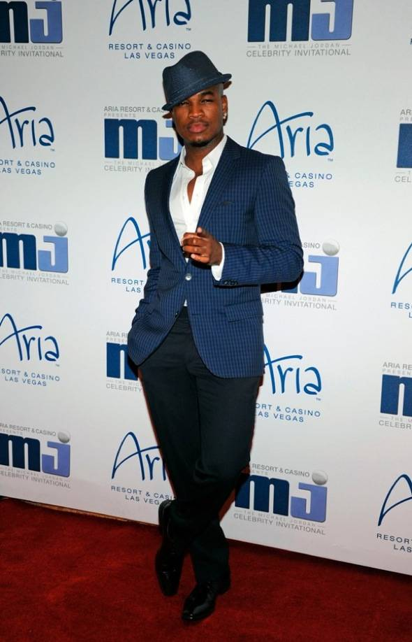 NE-YO on carpet at MJCI Celebration, Las Vegas, 3.30.12