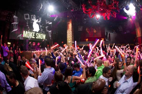 Swedish indie pop band Miike Snow performs at Tao.