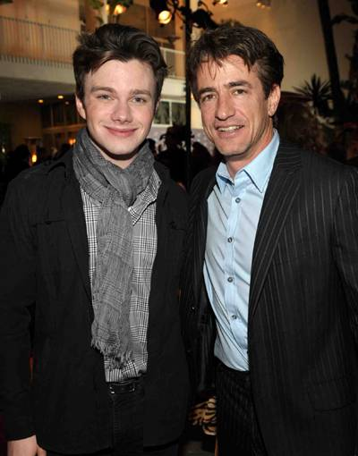 Chris Colfer  and Dermot Mulroney