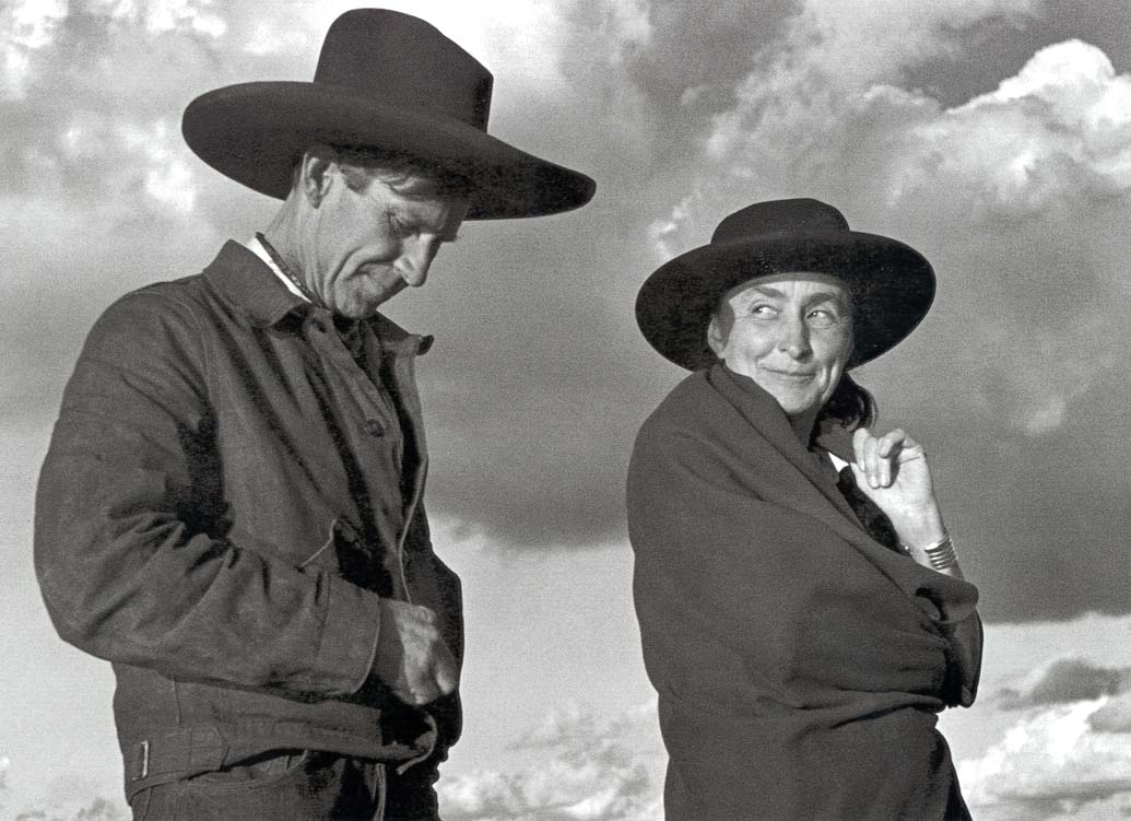 """Georgia O'Keeffe and Orville Cox at the Canyon de Chelly National Monument"" (1937)"