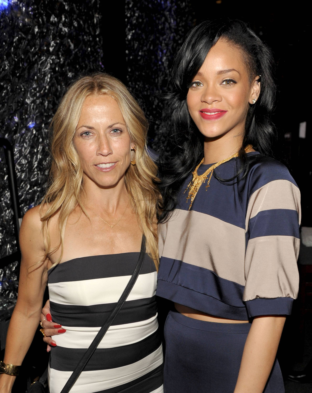 2012 Courage Award Honoree Sheryl Crow and singer Rihanna