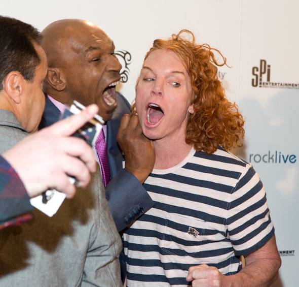 Mike Tyson and Carrot Top