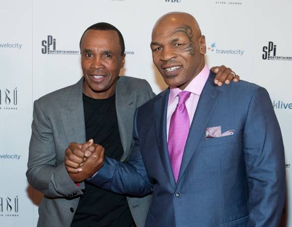 Sugar Ray Leonard and Mike Tyson