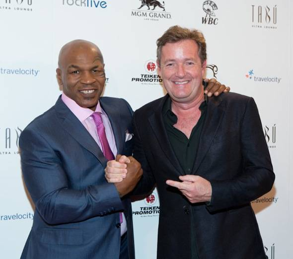 Mike Tyson and Piers Morgan