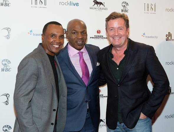 Sugar Ray Leonard, Mike Tyson and Piers Morgan