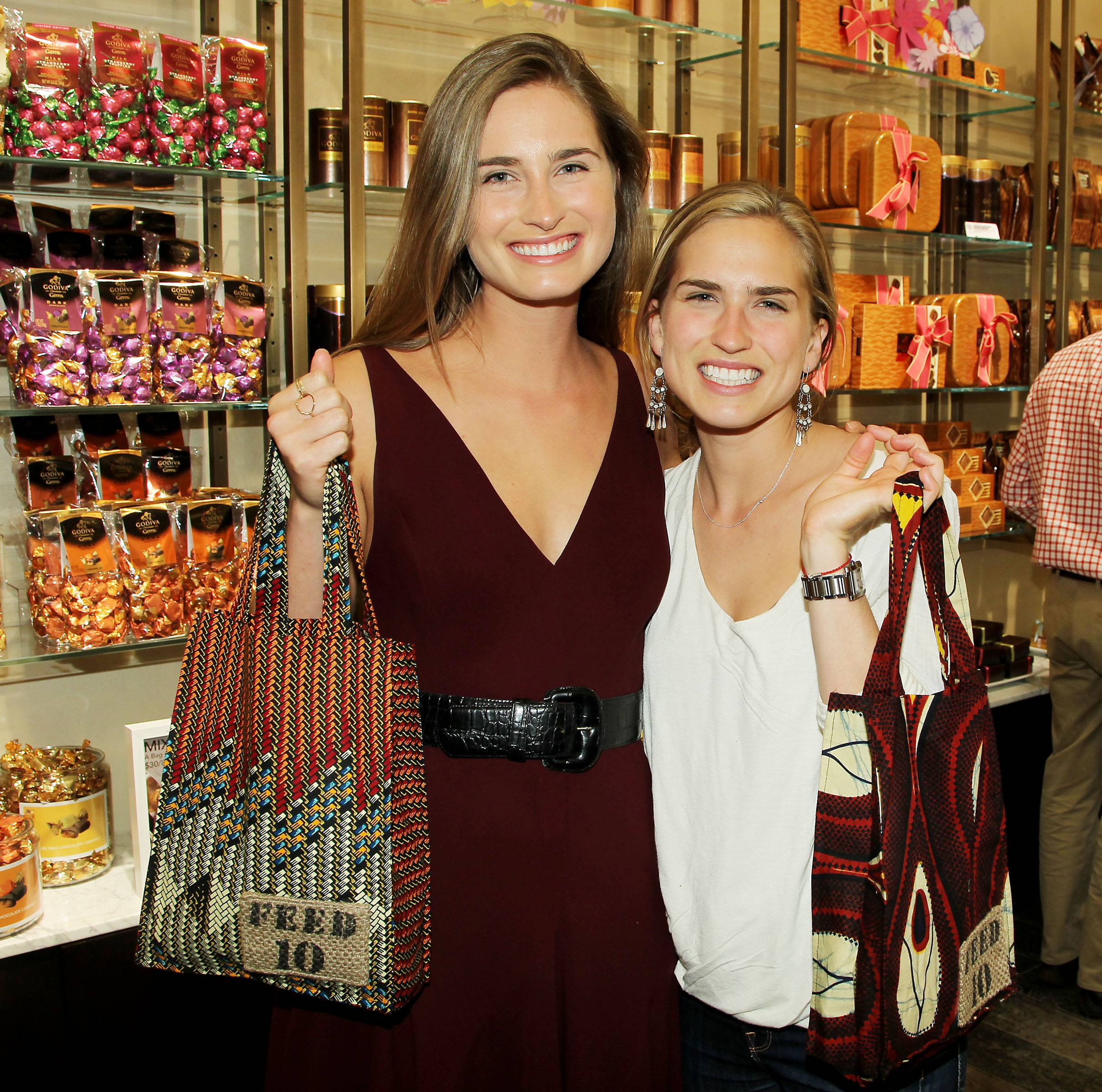 Lauren Bush Lauren and sister Ashley Bush