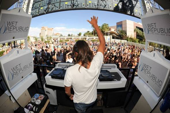 International superstar DJ, Bob Sinclair performs at Wet Republi