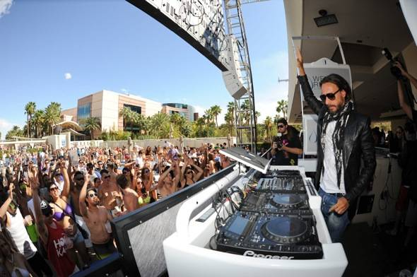 International superstar DJ Bob Sinclair performs at Wet Republi