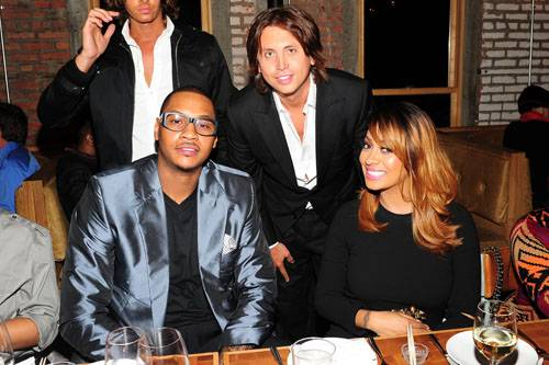Carmelo Anthony. Jonathan Cheban, Lala Anthony