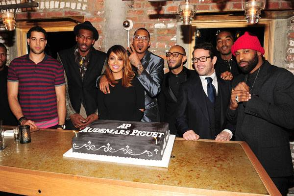 Landry Fields, Amare Stoudemire, Lala Anthony, Carmelo Anthony, Francois-Henry Bennahmias,