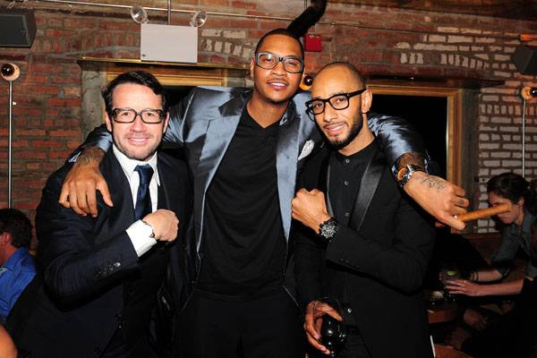Francois-Henry Bennahmias, Carmelo Anthony, Swizz Beatz