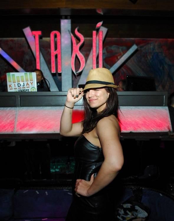 Gina Carano inside Tabu Ultra Lounge 4.21.12
