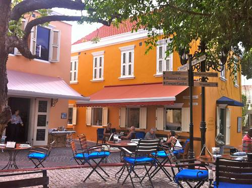 Jacob's Bar and Terrace at the Hotel Kura Hulanda