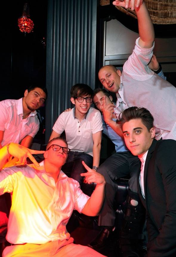 Kevin McHale celebrates a friend's bachelor party at Chateau Nightclub & Gardens.