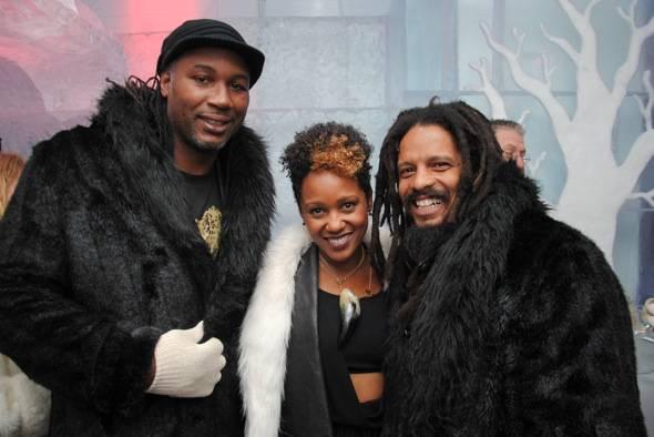 Lennox Lewis, Karen Marley and Rohan Marley