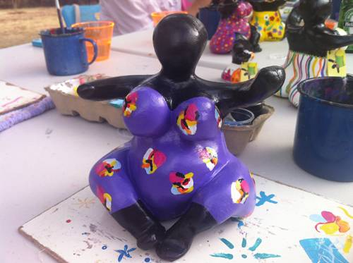 My very own Chichi, painted at Serena's Chichi Factory