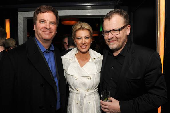 Producers Kari Wagner and Todd Wagner with director Stefan Ruzowitzky