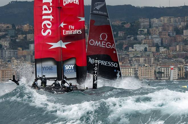 America's Cup Naples Day 3 winner Emirates Team New Zealand.