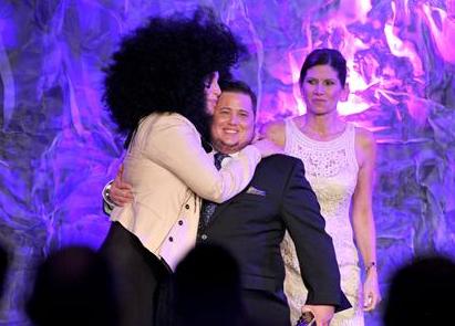 Cher and Caz Bono