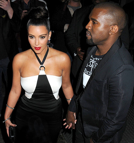 Kim and Kayne West