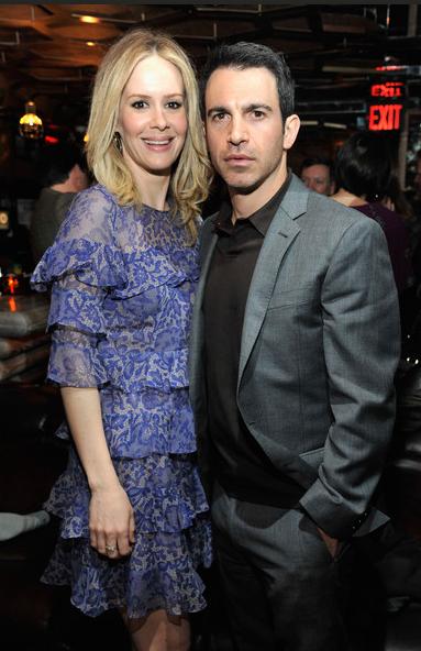 Actors Sarah Paulson and Chris Messina