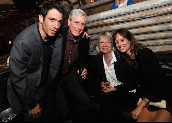 Actor Chris Messina, Jeff Gilmore, Astrid Gilmore, and actress Alexie Gilmore