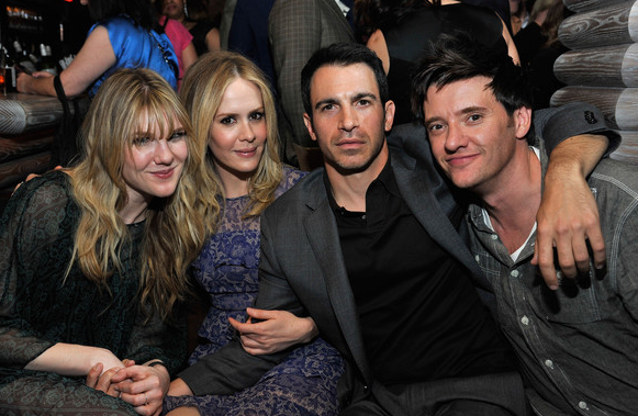 Actors Lily Rabe, Sarah Paulson, Chris Messina and guest