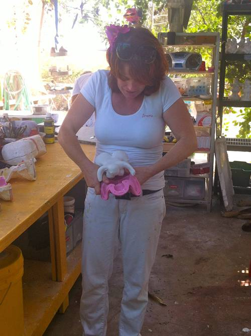 Serena Israel explains how Chichis are made at her Chichi Factory in Curacao