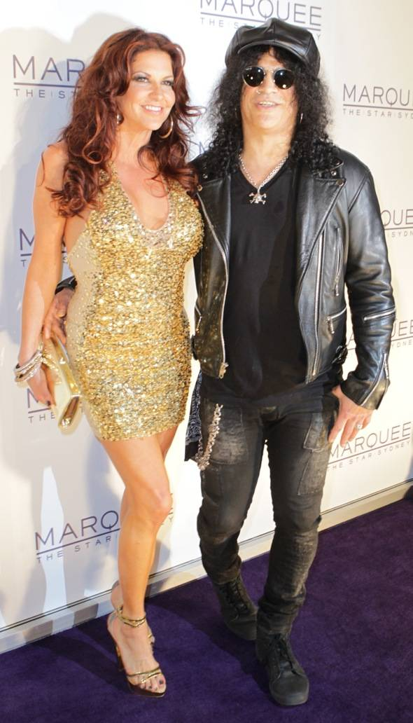 Slash and Perla Ferrar at Marquee — The Star in Sydney, Australia.