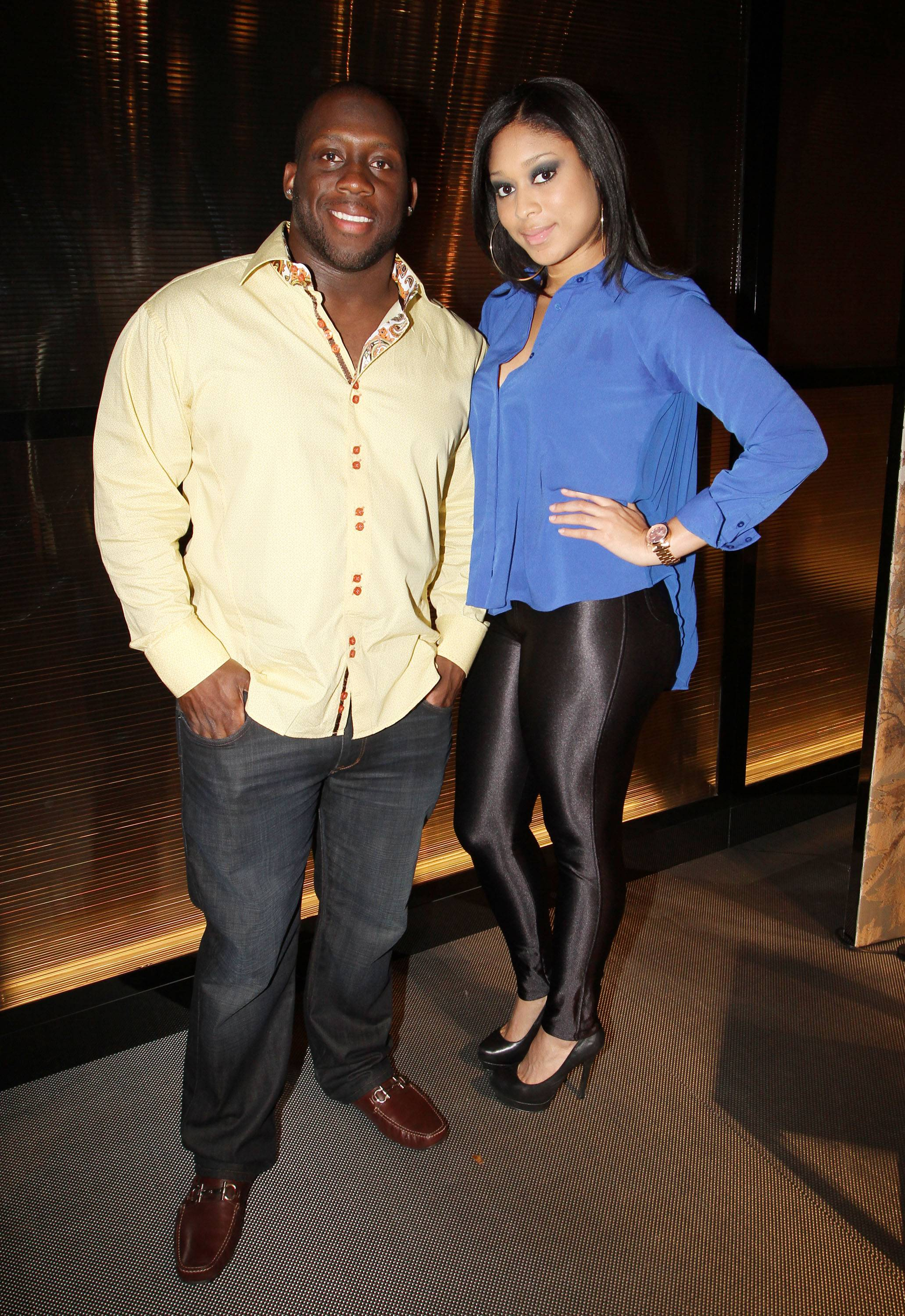 Stephen Tulloch, Detroit Lions Linebacker and girlfriend Vanessa Alleyne