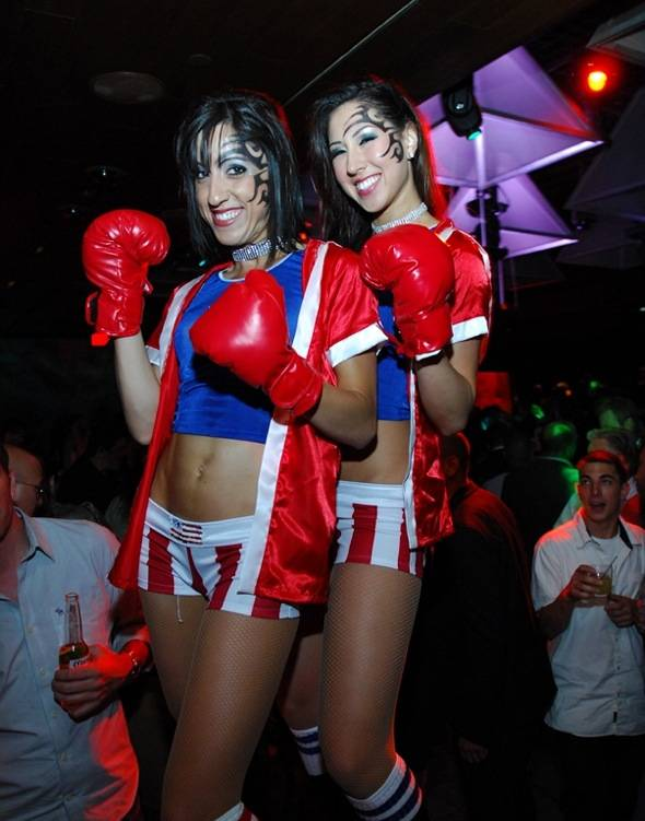 Tabú's Go-Go Dancers as Sexy Boxers