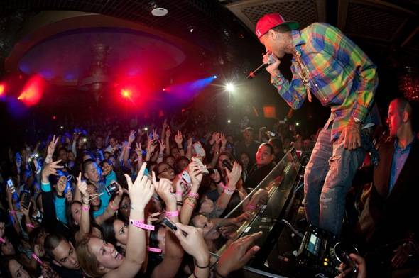 Hip Hop artist, Tyga, performs at LAVO Nightclub