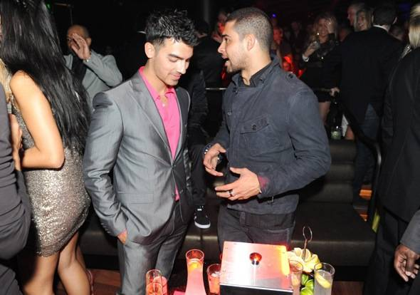 Wilmer Valderrama and Joe Jonas chatting at Marquee — The Star in Sydney, Australia