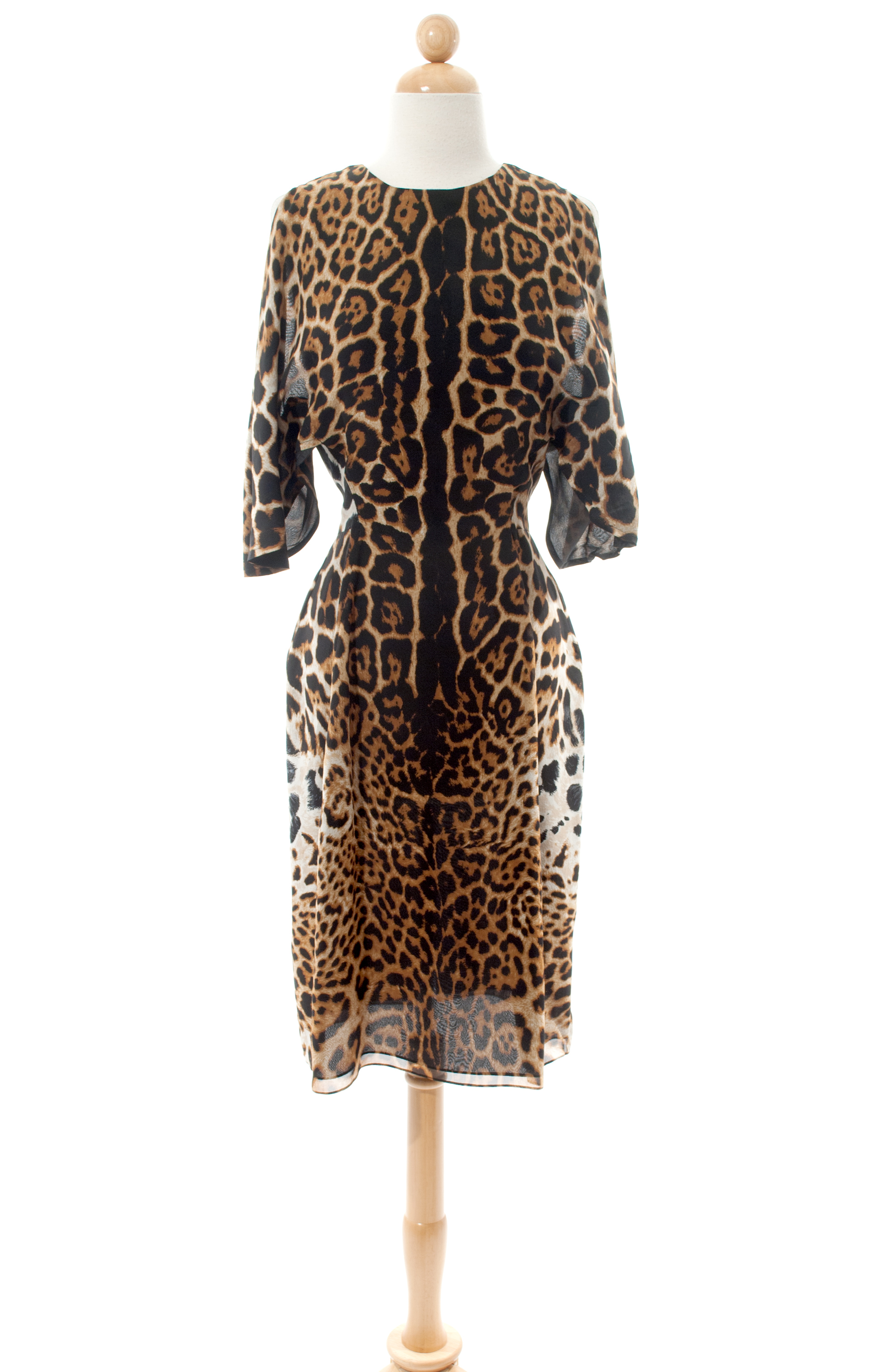 Yves Saint Laurent—Leopard Print Dress--$800