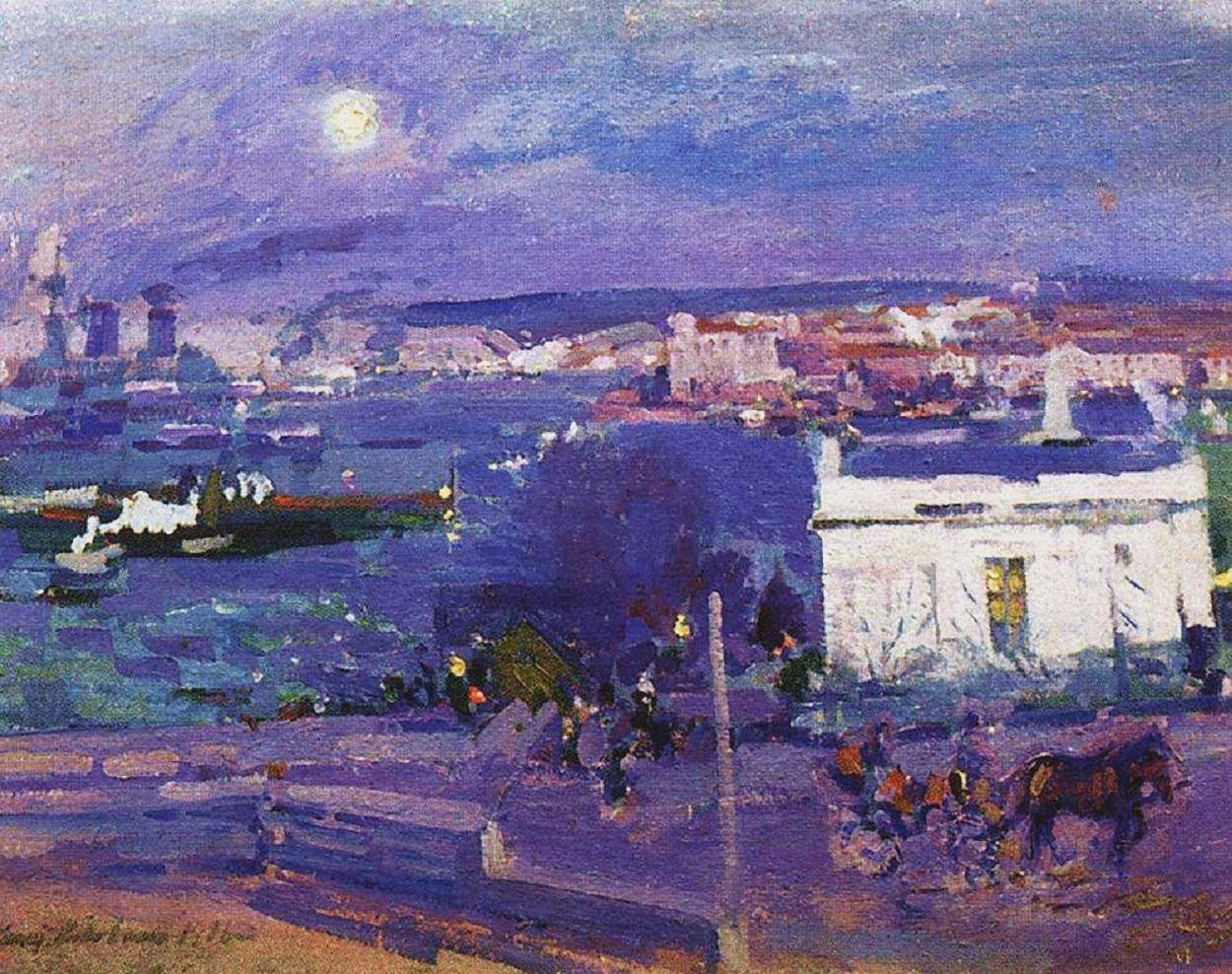 konstantin-korovin-the-harbour-at-sevastopol-1916