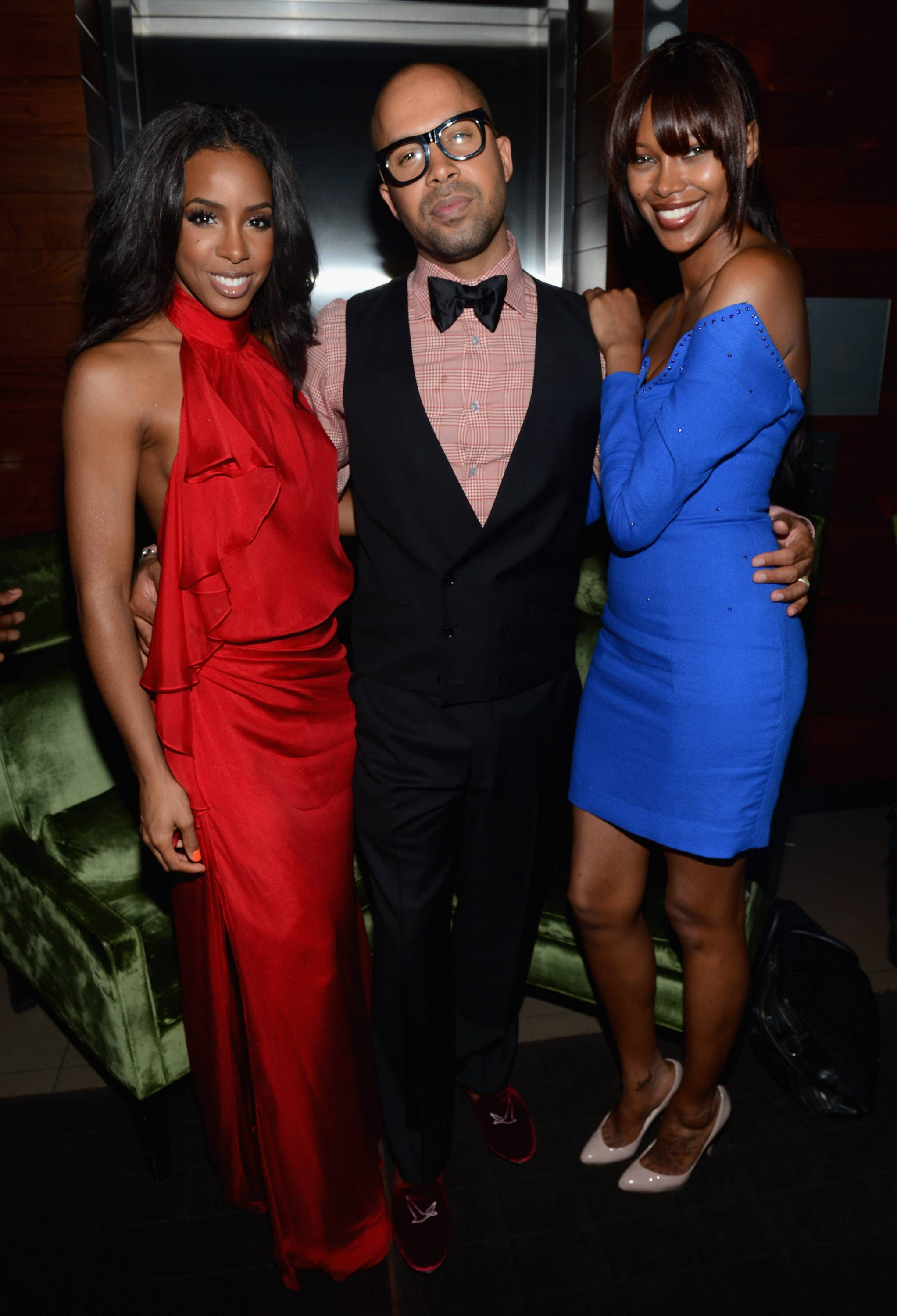 Kelly Rowland, Kenny Burns and model Jessica White