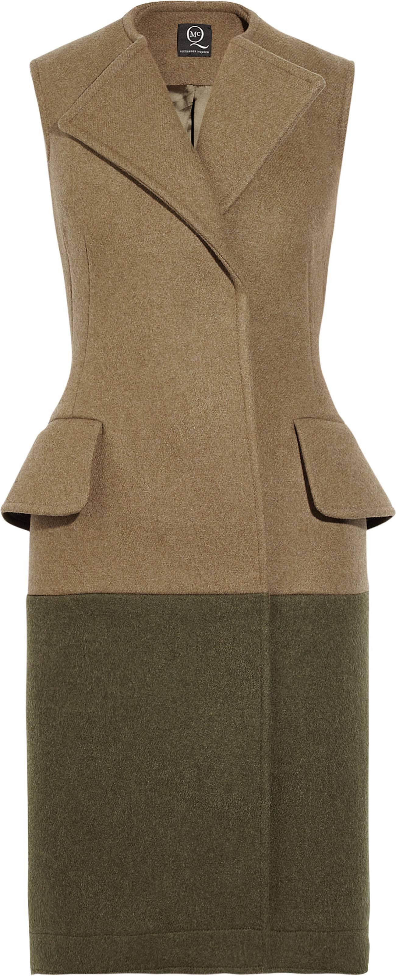 322562_McQ Alexander McQueen Two-tone coat dress NET-A-PORTER