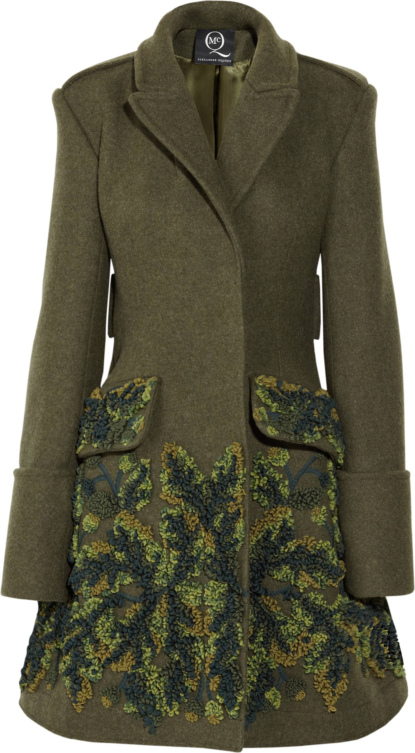 322563_McQ Alexander McQueen Embroidered Military Coat NET-A-PORTER