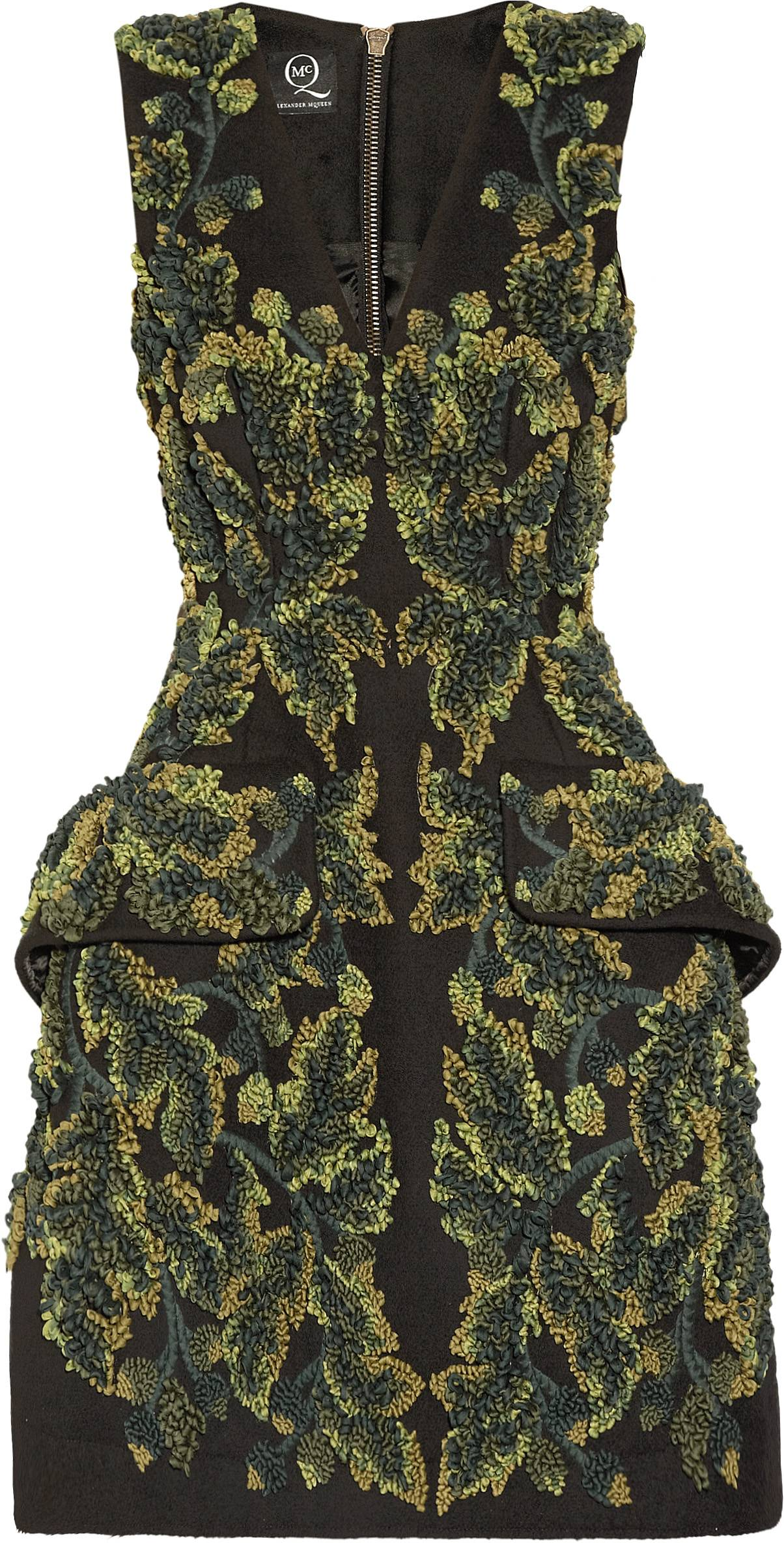 322564 McQ Alexander McQueen Embroidered Extreme Dress NET-A-PORTER