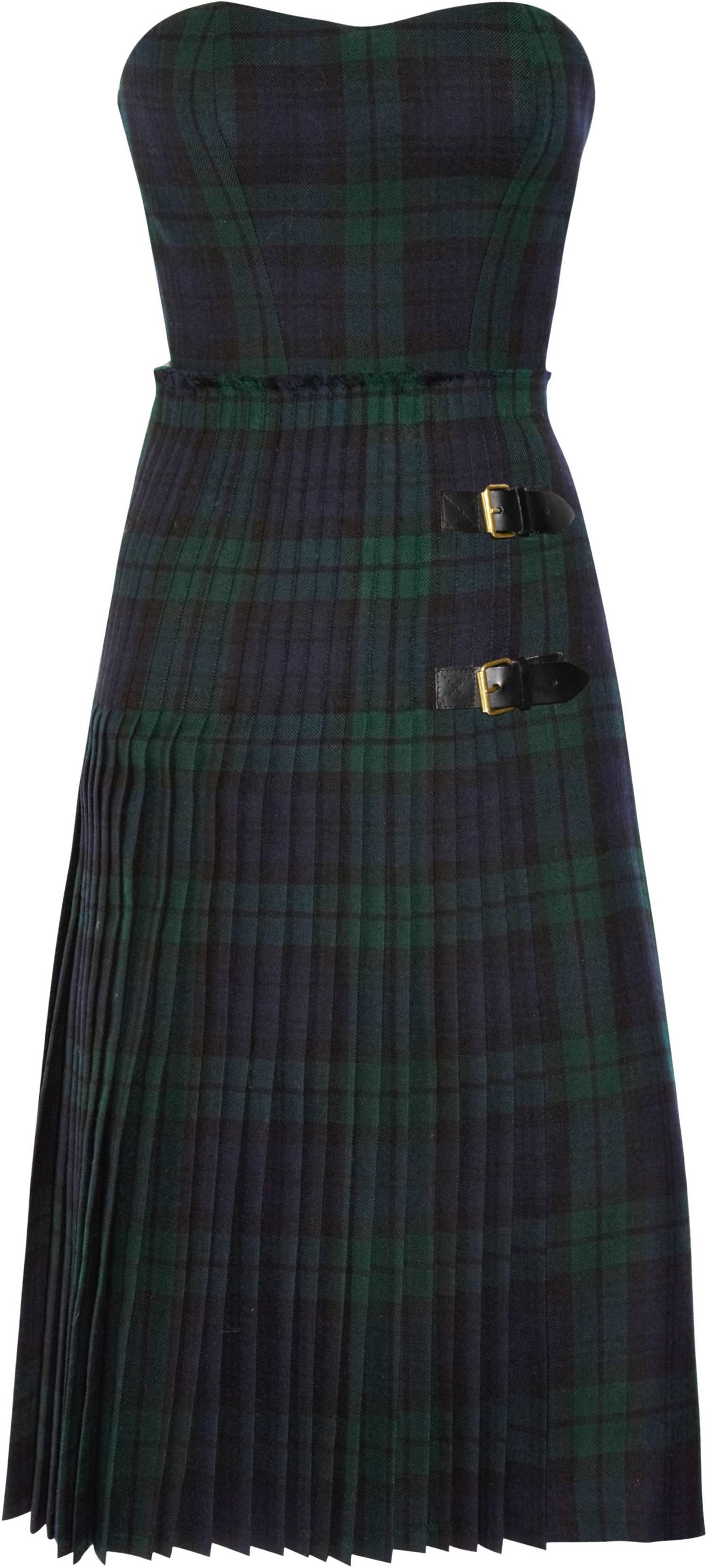 322567_McQ Alexander McQueen - Tartan Bustier Dress NET-A-PORTER